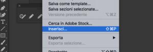 inserisci file illustrator